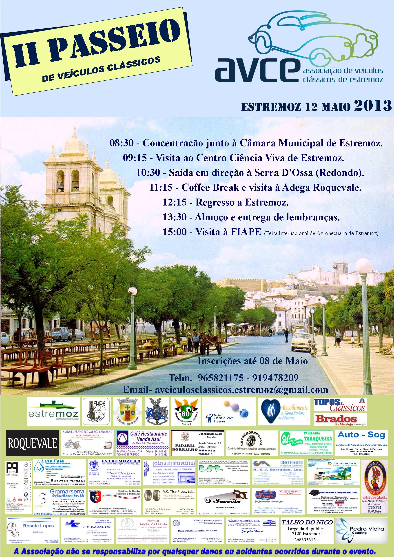 Cartaz II passeio 2013 com Publicidade A3